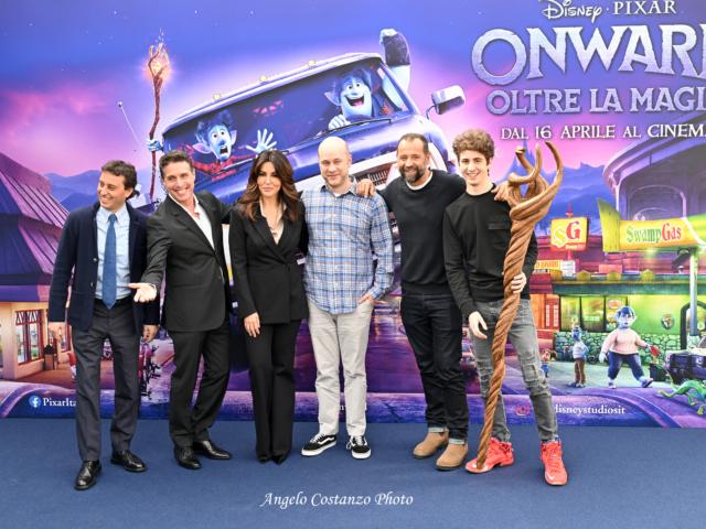 Onward – Oltre la magia, i talent italiani Sabrina Ferilli, Fabio Volo, Raul Cremona, Favij, David Parenzo